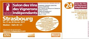 Salon des vignerons ind pendants de strasbourg 2017 - Invitation salon des vignerons independants ...