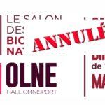 SALON DES VINS BIOS & NATURELS A OLNE - BELGIQUE 2020 - ORGANIC & NATURAL WINE FAIRIN OLNE - BELGIUM / ANNULE