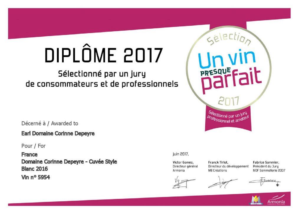 """Sélection 2017 du Concours """"Un vin presque parfait"""""""
