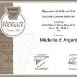 """Médaille d'argent Orange 2016 """"Style blanc"""""""