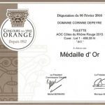 "Médaille d'or Orange 2016 ""Style rouge"""