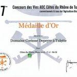 "Médaille d'Or Tulette 2017  ""Style blanc"""
