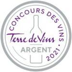 L'Âme du Chêne Blanc 2020 se distingue au Concours Terres de vin Argent